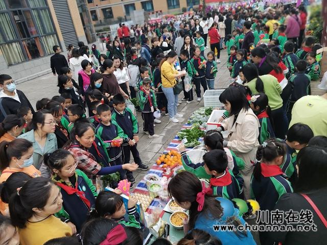 泸县:师生种出有机菜 义卖捐赠一份爱(图1)