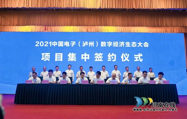 泸州、上海、深圳三会场同步连线 2021中国电子(泸州)数字经济生态大会召开(图4)